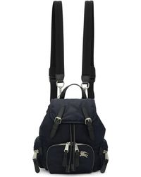 Burberry - Navy Small Puffer Crossbody Backpack - Lyst