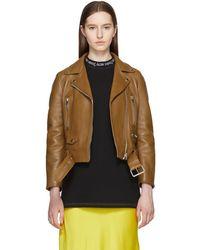 Acne Studios - Tan Leather Mock Jacket - Lyst