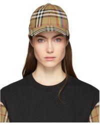 Burberry - Vintage Check Cotton Cap - Lyst