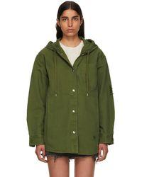T By Alexander Wang - Green Pyjama Utility Hooded Jacket - Lyst