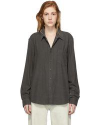 Our Legacy - Black Raw Silk Classic Shirt - Lyst