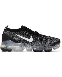 Nike - Baskets noires et blanches Air Vapormax Flyknit 3 - Lyst