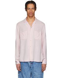 Blue Blue Japan - Pink Splashed Pattern Shirt - Lyst