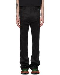 bba212440df997 Balenciaga Leather Crop Pants in Black for Men - Lyst
