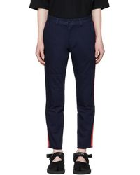 Blue Blue Japan - Indigo Twill Side Line Trousers - Lyst