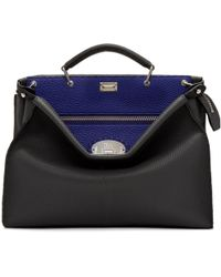 Fendi | Grey And Blue Peekaboo Briefcase | Lyst