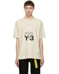 Y-3 - White Stacked Logo T-shirt - Lyst