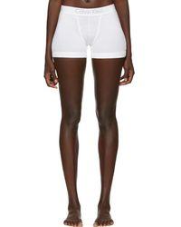 Calvin Klein - White Cotton Boy Shorts - Lyst