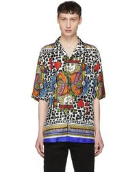 Dolce & Gabbana - Multicolor Silk King Of Hearts Shirt - Lyst