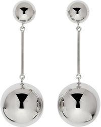 JW Anderson - Silver Sphere Drop Earrings - Lyst
