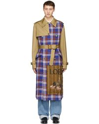 Loewe - Patchwork Trench Coat - Lyst