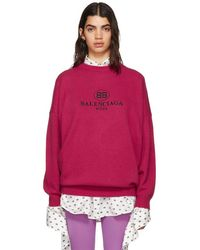 Balenciaga - Pink Bb Mode Embroidery Sweater - Lyst