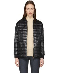 Herno | Black Down Cocoon Bomber Jacket | Lyst