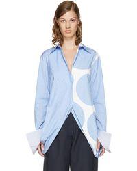 Stella McCartney - Blue Striped Manuela Shirt - Lyst