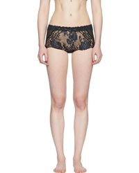 La Perla - Black Desert Rose Lacy Boy Shorts - Lyst