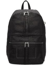 Rick Owens - Black Zaino Python Backpack - Lyst