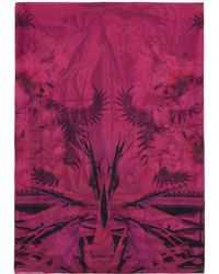 Givenchy - Black And Pink Iris Shawl - Lyst
