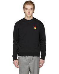 AMI - Black Smiley Edition Sweatshirt - Lyst