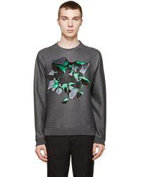 Christopher Kane - Grey Embroidered Wallbreak Sweatshirt - Lyst