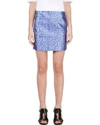 Richard Nicoll - Blue Python Jacquard Mini Skirt - Lyst