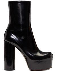 Vetements - Black Leather Platform Boots - Lyst