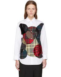 Junya Watanabe - White Circles Patchwork Shirt - Lyst