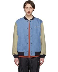 Saturdays NYC - Indigo Denim Welsh Varsity Jacket - Lyst