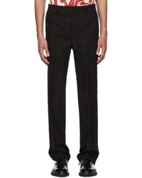 Givenchy - Black Jacquard Embroidered Star Trousers - Lyst