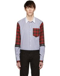 DSquared² - Multicolor Mixed Stripe And Check Military Shirt - Lyst