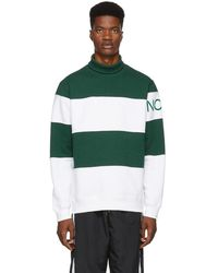 Noah - Green And White Mariner Turtleneck - Lyst