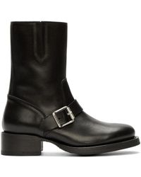 DSquared² - Black Leather Buckled Boots - Lyst