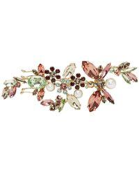 Erdem - Crystal Embellished Floral Brooch - Lyst