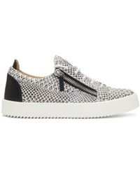 198f3c218d4c7 Giuseppe Zanotti Frankie Leather Low-Top Sneakers in Gray for Men - Lyst