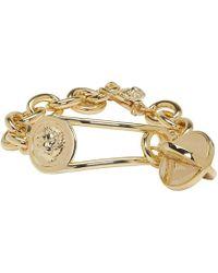 Versus - Gold Lion Medallion Bracelet - Lyst