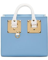 Sophie Hulme - Ssense Exclusive Blue And White Albion Box Tote - Lyst