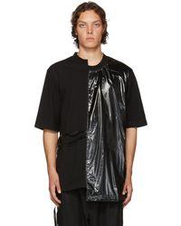 D by D - Black Unbalanced Side String T-shirt - Lyst
