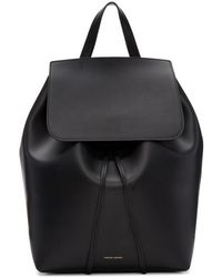 Mansur Gavriel - Black Leather Backpack - Lyst