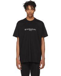 Givenchy - Black Oversized Vintage Logo T-shirt - Lyst
