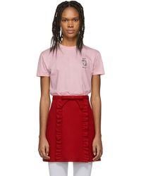 11c73b4ebb724d Miu Miu - Pink Unicorn T-shirt - Lyst