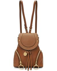 See By Chloé - Brown Small Olga Backpack - Lyst