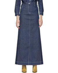 Levi's - Ssense Exclusive Indigo Work Skirt - Lyst