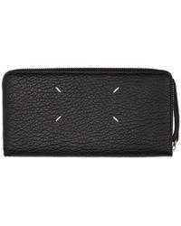 Maison Margiela - Black Long Grained Wallet - Lyst