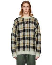 Cmmn Swdn - Brown And White Mohair Check Micha Sweater - Lyst