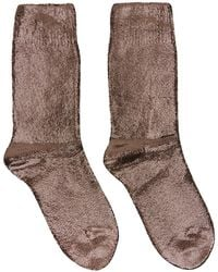 Ann Demeulemeester - Copper Laminated Socks - Lyst