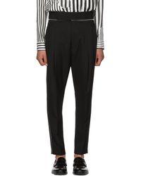 Haider Ackermann | Black Wool Classic High-waisted Trousers | Lyst