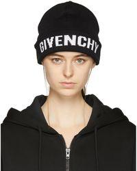 Givenchy | Black Logo Beanie | Lyst