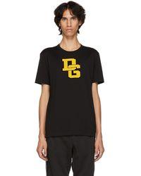 Dolce & Gabbana - Black Varsity Logo T-shirt - Lyst