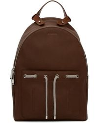 Jil Sander - Brown Leather Army Backpack - Lyst