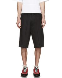 DSquared² - Black Racing Stripe Shorts - Lyst