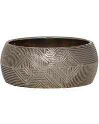 Givenchy - Silver 4g Filligrane Band Ring - Lyst